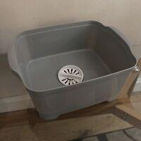 Dishwashing Bowl Straining Plug kitchen caravan wash drain grey washing up bowl