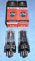 2 NOS RCA 12SN7GTA Vacuum Tubes - 1950's Tall Bottle Audio Twin Triodes