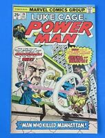 LUKE CAGE Power Man #28 BRONZE AGE COMIC BOOK 1975 ~ FN