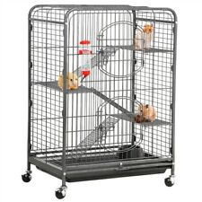 "Black 37"" Metal Ferret Cage for Large Rat Guinea Pig & Chinchilla Sugar Glider"