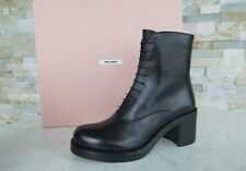 Miu Miu Ladies Size 36 Ankle Boots Schür 5T069A Black Shoes Shoes New