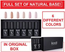 NEW! SET of Kodi Natural Rubber Base 12ml. / 6 DIFFERENT COLORS IN ORIGINAL BOX!