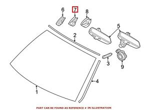 For BMW Genuine Interior Rear View Mirror Cover Front 51169275006