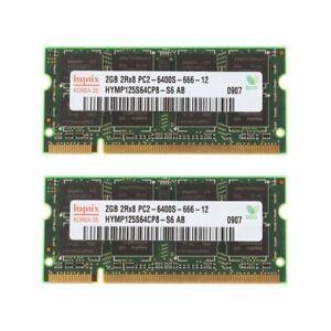 4GB  2x 2GB PC2-6400 DDR2 800MHz 200Pin CL6 SODIMM Laptop Memory SDRAM For Hynix