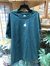 Hanes Beefy-T Large (42-44) Apple Computer MLTI Vintage Green Shirt