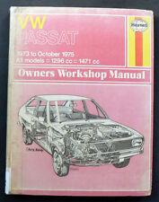 VW PASSAT DASHER 1300 1500 '73-75 Workshop Service Repair Manual ZA ZF ZB ZC ZD