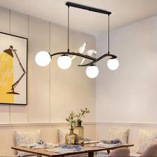 Nordic 2 Birds 4-Lights Chandeliers Glass Globe Hanging Ceiling Pendant Lamps