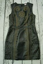 VERSACE H&M WOMENS DRESS LEATHER 100% AUTHENTIC SIZE EUR 38 US 8 M EXCELLENT