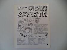 advertising Pubblicità 1976 ABARTH RICAMBI VOLANTI/CASCHI/MOTORE/MARMITTE
