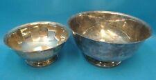 Vintage Gorham E.P. YC784 YH1 Silver Bowls Serving Display Used Old Kitchen