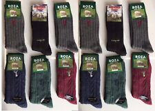 12 pairs mans thick chunky wool socks work hiking boot socks UK size 6-11 YTGHNB