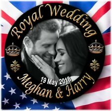 PRINCE HARRY~MEGHAN MARKLE BUTTON BADGE~ FABULOUS ROYAL WEDDING SOUVENIR