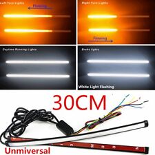 12 V 30 cm che scorre Switchback LED STRIP DRL turn segnale del freno Flash Luce Stroboscopica