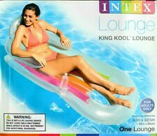 Intex King Kool Inflatable Pool Lounge Chair Float, Clear w/Cup Holder Summer