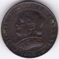1867 Italian States Soldo (5 Centesimi) UNC | Pennies2Pounds