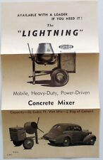 VINTAGE ADVERTISING MODERN BUILDER LIGHTBURN & CO. CONCRETE MIXER 1950s