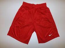 NIKE Mens Long Basketball Shorts Red Large L NWT with Pockets Drawstring Striped