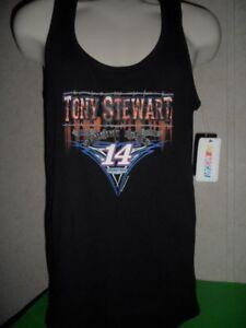 TONY STEWART #14 NASCAR WOMEN TANK TOP GENUINE SPEED BLACK  RIB XL NEW WITH TAGS