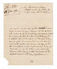 (MARIE-ANTOINETTE) / DIANE ET JULES DE POLIGNAC / LETTRES AUTOGRAPHES (1781)