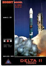 Card Model Kit – Delta II rocket