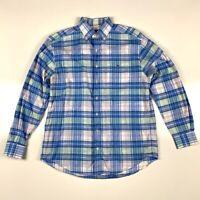 Vineyard Vines Mens Oxford Shirt Multicolor Blue Plaid Long Sleeve Classic Fit M