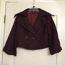 Arden B Woman's Crop Blazer - Brown - Size Medium