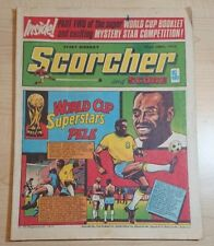 Scorcher & Score UK Weekly Comic 22nd June 1974 World Cup Pele Brazil