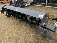 "72"" Rotary Tiller Attachment for Skid Steer Bobcat Removable teeth Heavy Duty"