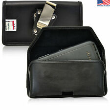 Turtleback Samsung Galaxy S6 Leather Pouch Holster Metal Belt Clip Fits Otterbox