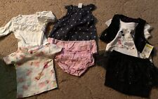 7 Pcs 12 month 2 Complete Summer Girl Outfits