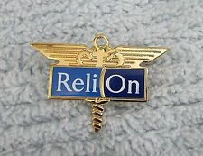 Reli On Medical Test Equipment Monitors Advertising Pinback Lapel Pin FREE S/H