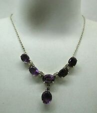 Amethyst Silver Necklace/Choker Victorian Fine Jewellery