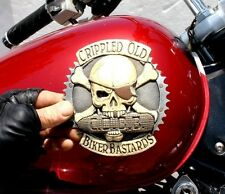 Drifter, Harley, Indian Gas Tank Emblem Set Crippled Old Biker Zambini Bros MFA
