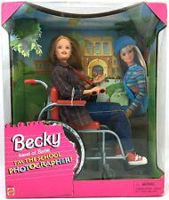 School Photographer Becky Wheelchair Doll Barbie Friend NRFB 1992 20202