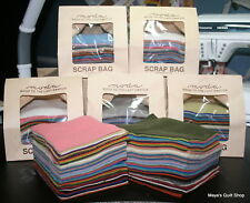 "Moda WOOL Scrap Bag mixed colors 100% wool approx. 50 rectangles 5½"" x 4"""