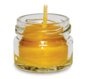 Xmas Candles - Beeswax Christmas Candles Tea Light - Glass Jar