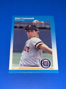 1987 FleerAlan Trammell Baseball Card #167 Detroit Tigers Set Break NM-MINT