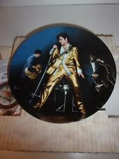 Elvis Presley Plate 3 The Memphis Flash Looking at a Legend Delphi Plate Vintage