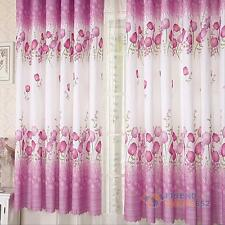 Floral Heavy Thick Panels Short Window Curtain Room Scarf Grommet Vanlances Chic