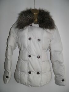 M&S Per Una Double Breasted Padded Coat Jacket size small