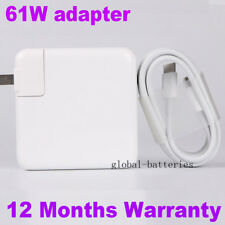 "USB 3.1 Type C USB-C 61W Power Adapter Charger For Apple Macbook Pro 13"" A1718"