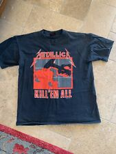 Vintage Metallica 1990 1987 T-shirt Ride the Lighting Kill Em All Mens L