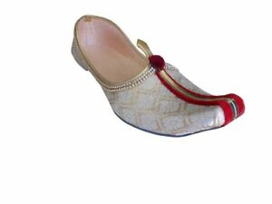 Men Shoes Mojari Wedding Cream Groom Indian Loafers & Slip Ons Jutti US 6-12
