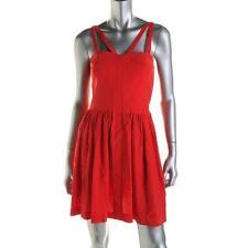 Amanda Uprichard ~ Red Silk Strappy Corset Fit & Flare Versatile S Dress $219