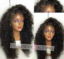 """7A Curly Human Hair Wigs Brazilian Remy Hair Lace Front Wigs For Women 14"""" 130%"""