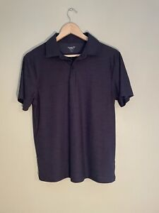 Old Navy Active Mens Gray Polo W/ Subtle Stripes, Size S