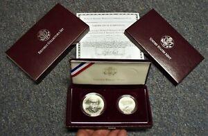 "1998-S KENNEDY COLLECTORS 2 COIN SET  RFK JFK $1 AND HALF DOLLAR  ""MATTE FINISH"""