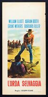 L98 Plakat L' Wilde Horde William Elliot Adrian Booth Kane Withers Western