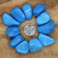 11 x Blue Howlite Tumblestones Crystals 60g+ Wholesale Therapists Healers Reiki
