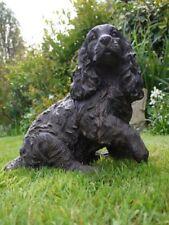 Spaniel called Daniel cocker spaniel dog figure rustic dog ornament  paw in air